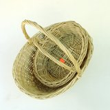 VTG OVAL WILLOW WICKER BASKETS: SET of 2 in Glendale Heights, Illinois