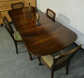 Antique Lübke Chippendale Table with 4 Chairs in Ramstein, Germany
