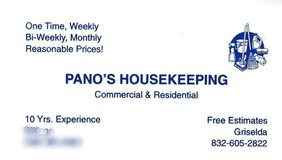 Pano's HouseKeeping in Houston, Texas