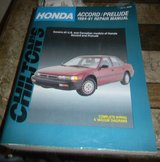 Chiltons Repair Manual Honda Accord / Prelude 1984 -1991 in Kingwood, Texas