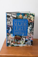 Carlton Fisk Signed History of Major League Baseball Book in Shorewood, Illinois