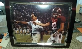 Autographed Nick Saban Greg McElroy Picture  BAMA #1 in Birmingham, Alabama