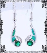 New - Green Fire Opal and Green Quartz Earrings in Alamogordo, New Mexico