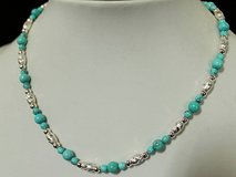 "16 1/2"" Turquoise .925F Necklace in Okinawa, Japan"