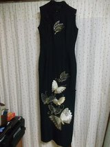 LONG EMBROIDERED CHINESE DRESS (SILK) in Okinawa, Japan