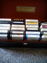 23 8 track tapes with box in Ottawa, Illinois