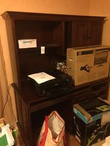 Two piece desk and hutch set in Lackland AFB, Texas