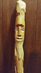 Hand Carved Wood Walking Stick in Naperville, Illinois