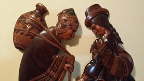 Hand Carved Wooden Hanging Art in Naperville, Illinois