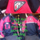 Mens Large Red Rhino Moterbike Jacket in Lakenheath, UK