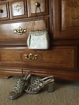 Vintage Glamour Silver Shoes and Matching Purse in Orland Park, Illinois