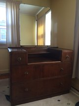 Antique dresser with mirror in Camp Lejeune, North Carolina