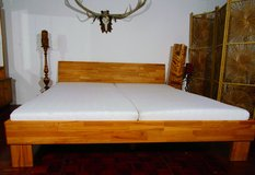 California King Bed Solidwood Frame, Mattresses and Boxspring in Ramstein, Germany