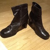 Brown Zipup Ankle Boots in Lakenheath, UK