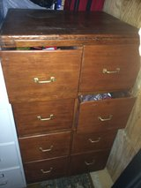 old pine eight drawer filing cabinet in Warner Robins, Georgia