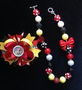 Red,black,white & yellow gumball necklace in Vista, California