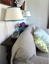 Wood sofa table couch side table in Camp Lejeune, North Carolina
