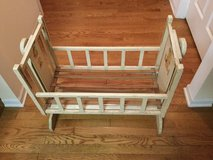 Vintage toy baby doll rocking cradle crib in Morris, Illinois