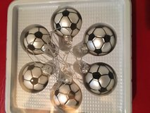 SIX SOCCER ORNAMENTS in Plainfield, Illinois