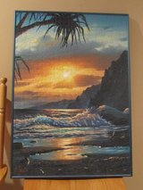 Island Sunrise/Sunset Puzzle/Picture (framed) in Naperville, Illinois
