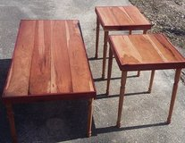 custom built cherry wood with cedar wood 3 pc table set in Kansas City, Missouri