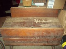 RARE Antique Double Seat Inkwell Desk with Fold up seats in Aurora, Illinois