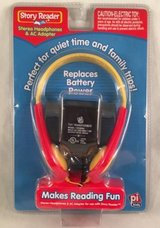NEW SEALED Story Reader Stereo Headphones & AC Adapter pi Kids in Houston, Texas