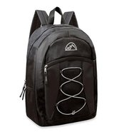 Mountain Edge 17'' Bungee Front Pocket Backpacks (Black) - NEW! in Joliet, Illinois