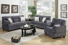 3 pc sofa set , sofa love seat and chair in San Bernardino, California