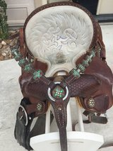 Saddle and breast collar in Houston, Texas