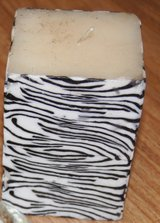 ZEBRA CANDLE, NEVER USED in Lakenheath, UK