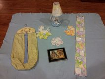 Baby Jungle Animals room decor with Diaper Hanger and Growth Chart and Lamp in Joliet, Illinois