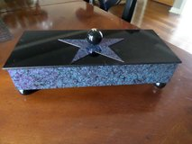 """Star Box"" by Michael Herbert - Cedar Box with Velvet Lining & Star Top in Lockport, Illinois"