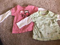 2 6-9 mo shirts in DeKalb, Illinois
