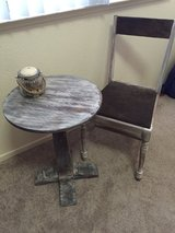 Rustic bistro table and chair in Fort Irwin, California