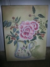 Rose Vase Stretched Canvas Painting in Camp Lejeune, North Carolina