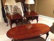 End tables and matching coffee table in St. Charles, Illinois