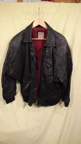 American Weekend - Black Leather Coat/Jacket in Plainfield, Illinois
