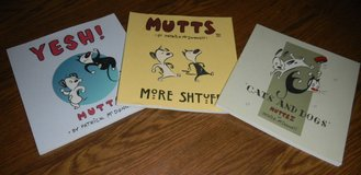 3 Patrick McDonnell MUTTS Book Lot YESH II III More Shtuff Comic Cartoon Books in Houston, Texas