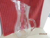 """11"""" Glass Pitcher with etched """"B"""" in Naperville, Illinois"""