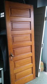 Vintage Solid Wood Door with Hardware in Bolingbrook, Illinois
