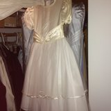 Girl's communion dress (Downers Grove) w/slip & barrettes in Orland Park, Illinois