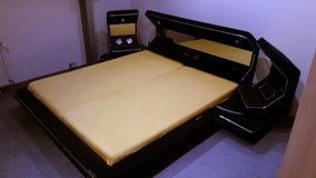 Kingsize  Bed  with Radio Dark Blue in Ramstein, Germany