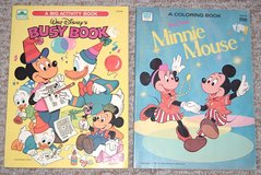 Vintage Lot of 2 81'-82' Walt Disney's Mickey & Minnie Mouse Coloring & Activity Books in Morris, Illinois