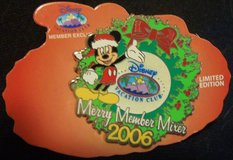 Collectors Limited Edition Vacation Club Merry Member Mixer pin 2006 new,origcrd in Joliet, Illinois