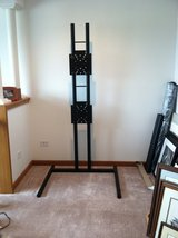 TV Stand-Black Powder Coated Steel in St. Charles, Illinois