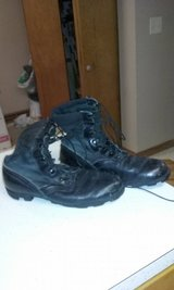 Vietnam era jungle boots one pair black size 11R and the second the harder to find black and gre... in Sandwich, Illinois