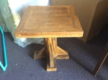 Small wood table in 29 Palms, California