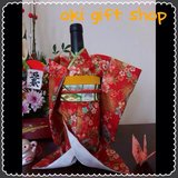 Great Gift! Kimono wine bottle cover center piece in Okinawa, Japan