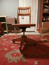 Antique 1930's solid oak and cast iron office chair in Cleveland, Texas